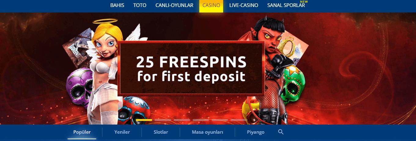 Mostbet casinonun ana sayfası